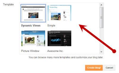 Cara Memilih Template Blogspot