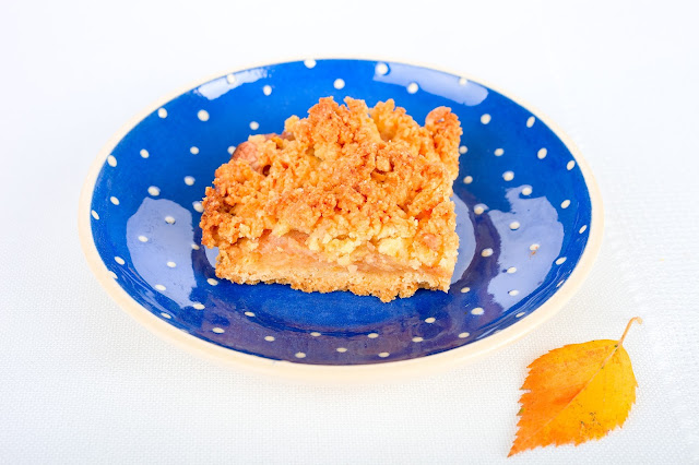 Apfelkuchen mit Streusel. Edyta Guhl.