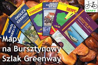 Burszynowy Szlak Greenway - mapy turystyczne