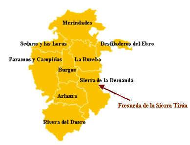 Burgos Mapa Ciudad de la Región