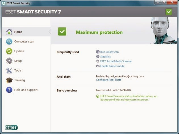eset smart security 7 license key free