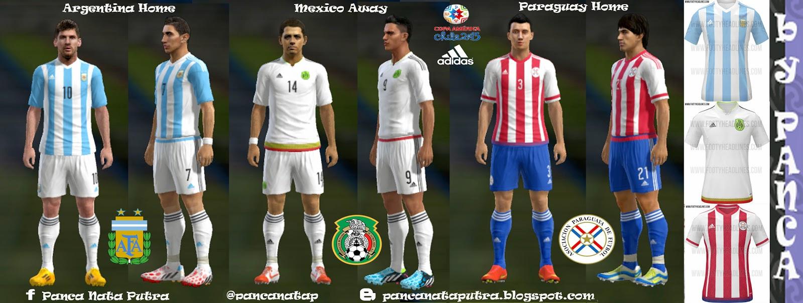 PES 2013 Copa America 2015 Mini Kits Pack by panca