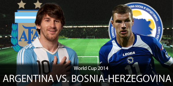 PREVIEW Pertandingan Argentina vs Bosnia Herzegovina 16 Juni 2014 Dini Hari
