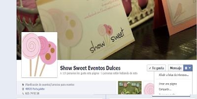 Show Sweet en Facebook