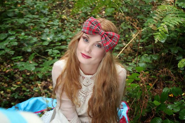tartan bow headband