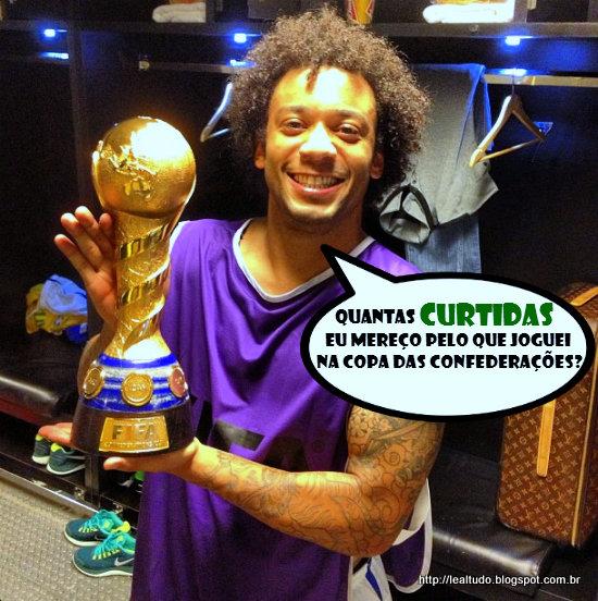 Lateral esquerdo Marcelo - Brasil Copa das confederações