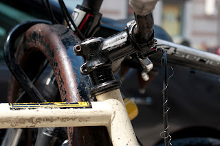 bike, bicycle, the biketorialist, biketorialist, single speed, fixed speed, fixie, New York, NY, USA,  8th avenue, frame, tim macauley, timothy macauley, mud guards, guards, sugino oury grips, oury, grips, crank, cranks, decal, sticker, headset, headstem