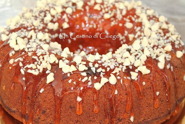 ciambella alle mandorle arance e cioccolato bianco
