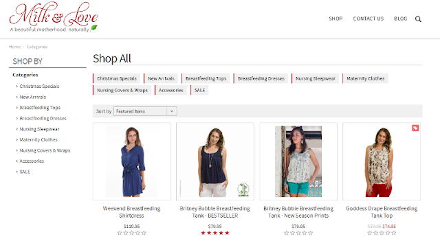 reputable online shop for breastfeeding and maternity clothes