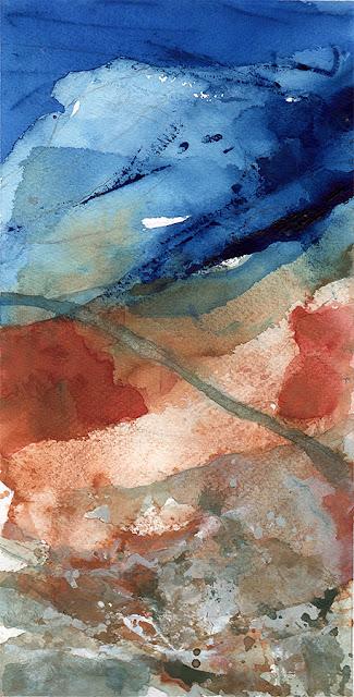 Mont Ventoux gouache paysage abstrait