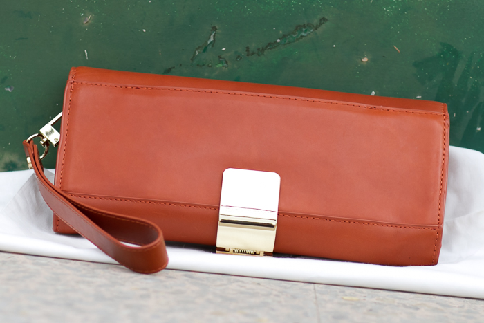 Bolso de Mano de cuero color marrón teja caldera de Zara Woman Compras de Bloguera de moda valenciana withorwithoutshoes Complementos