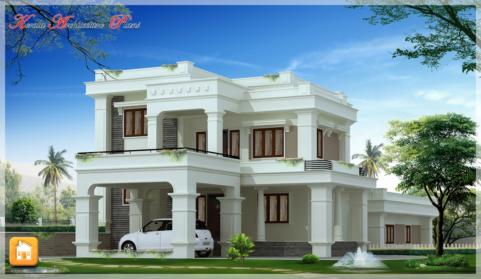 Beautiful traditional and contemporary style elevations for Contemporary style homes in kerala