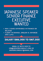 Japanese Speaker Finance Exec WANTED