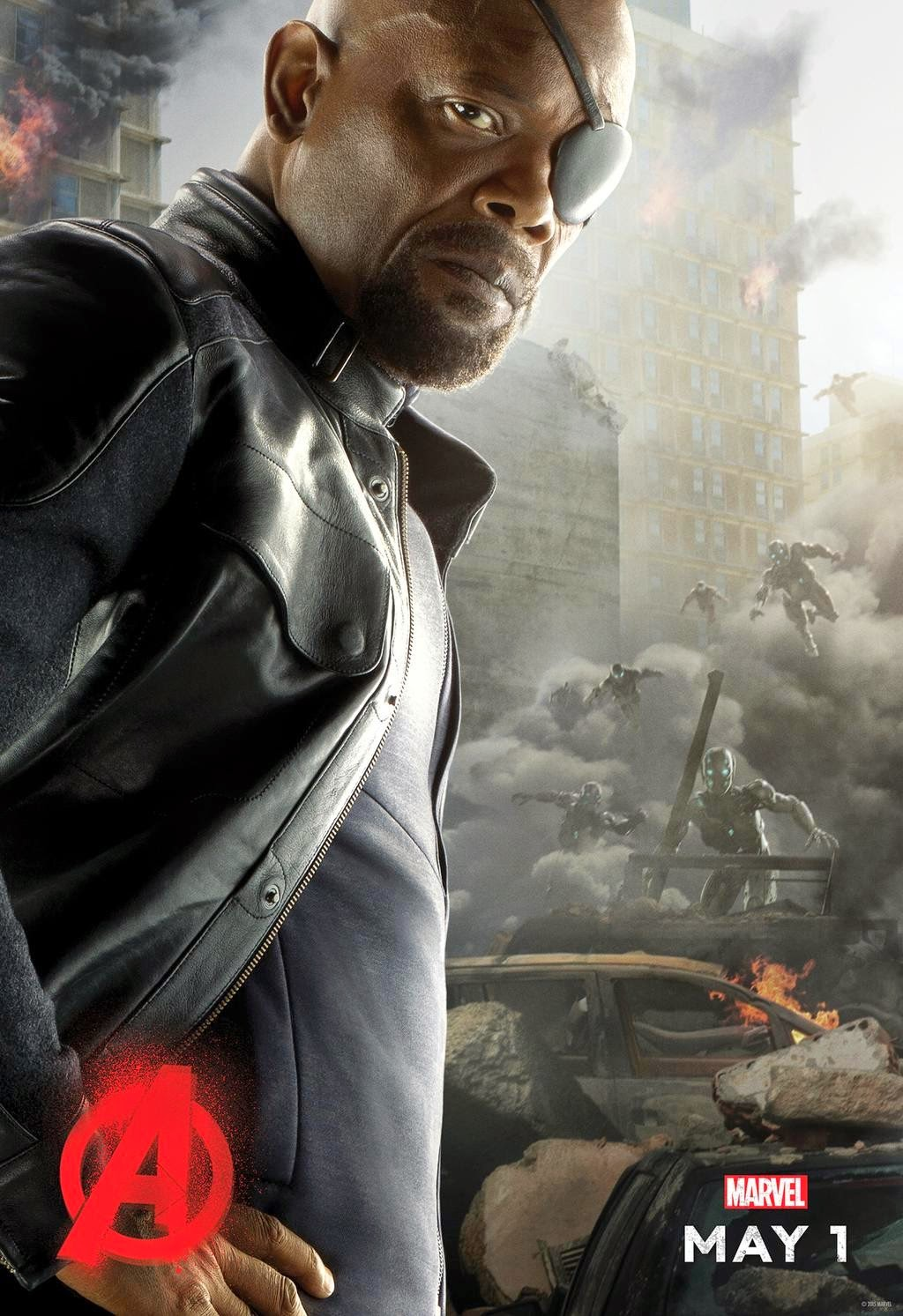 Marvel's Avengers Age of Ultron Character Movie Poster Set - Samuel L. Jackson as Nick Fury