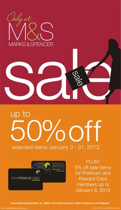 Nationwide Mattress Stores Manila Shopper: Marks & Spencer End of Season SALE: Jan 2013