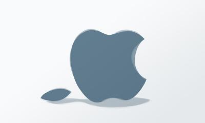 Steve Jobs passed away gestorben tot Apple Logo fallen leaves autum computer
