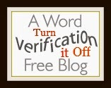 Buttons for Baga is a Word Verification Free Blog