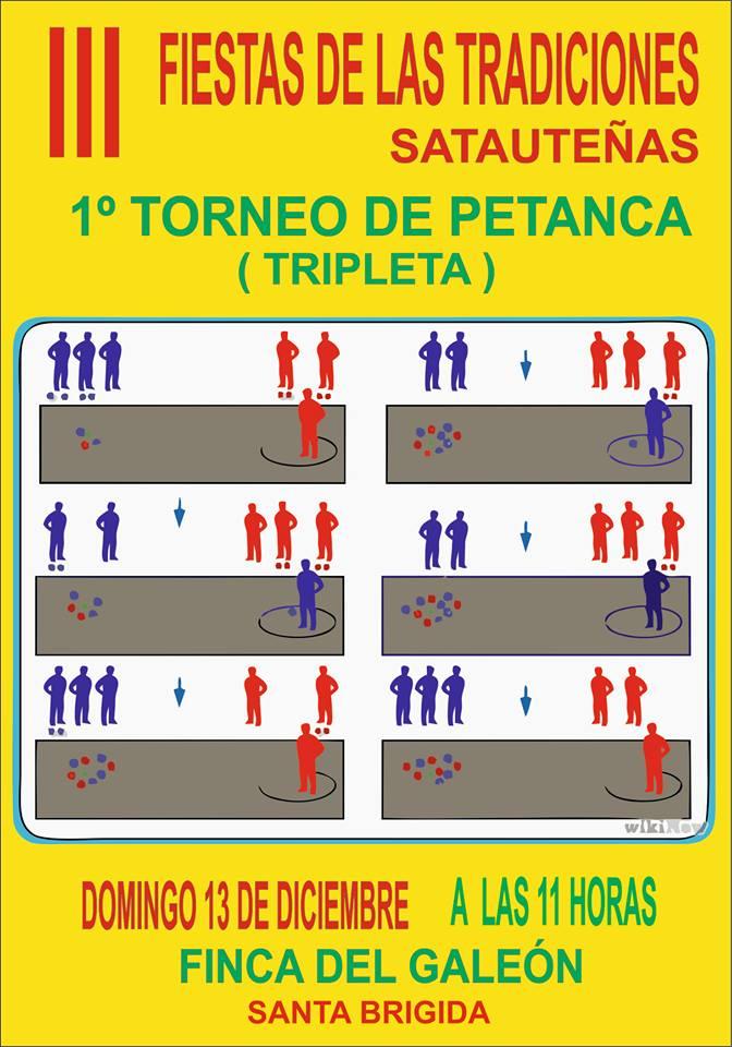 1er Torneo de Petanca III Fiesta de las Tradiciones Satauteñas