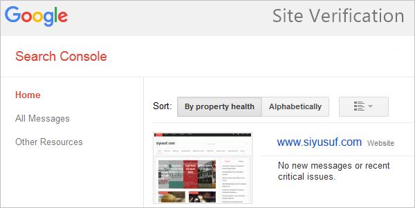 Cara Menambahkan Google Site Verification