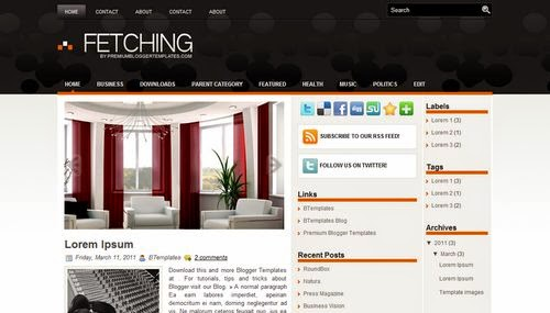 Fetching - Free Blogger Template