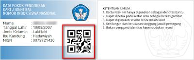 Cetak Kartu NISN Berbasis Aplikasi Dapodikdas QR Code Terbaru