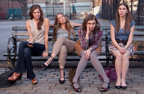 Allison Williams, Jemima Kirke, Lena Dunham y Zosia Mamet (de izquierda a derecha), protagonistas de 'Girls'