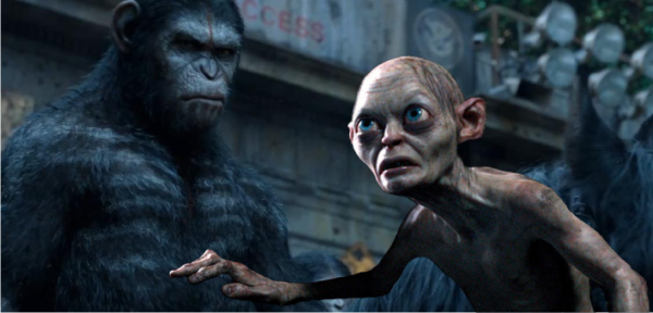 Andy Serkis improvisa uma conversa entre Gollum e César no programa de Conan O'Brien