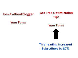 sign up form heading optimization tips