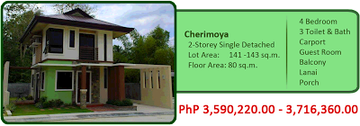 Cherimoya 2-Storey Single-Detached 4M 4BR 3TB w/ carport, lanai, balcony and porch For Sale House and Lot Liloan Cebu