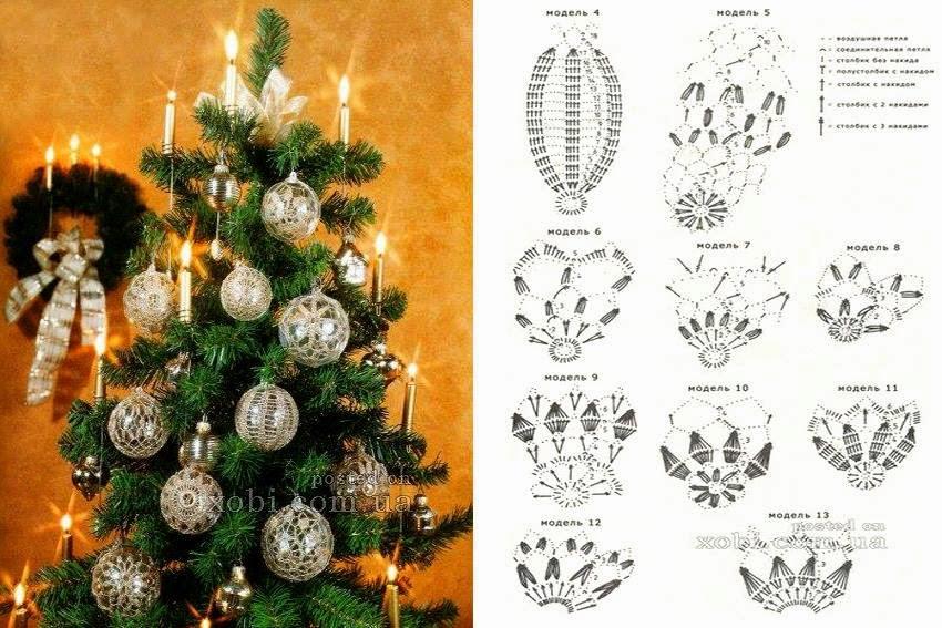 Con i gomitoli di tommy rinnovare l 39 albero di natale - Decorazioni uncinetto ...