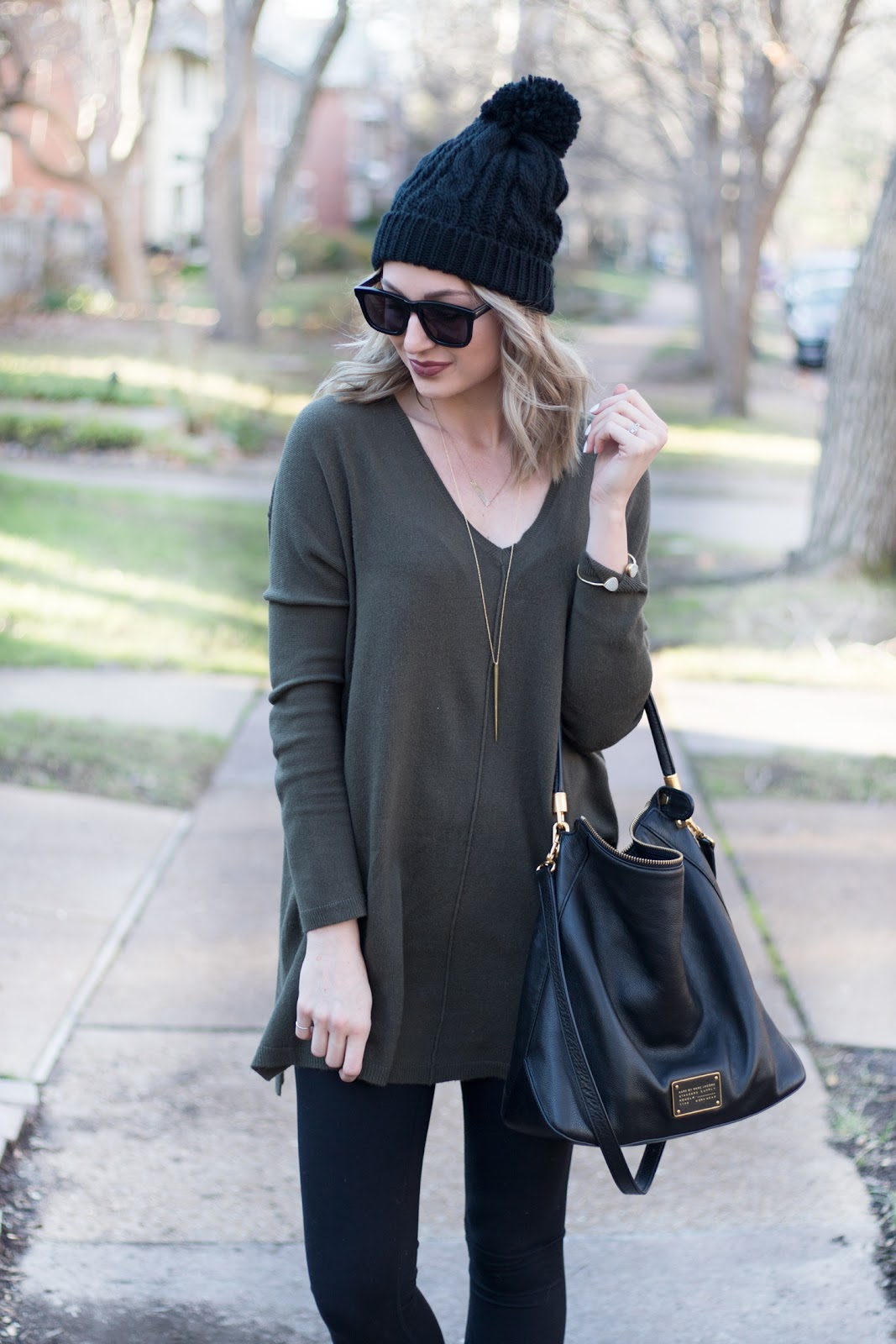 Tunic sweater + leggings