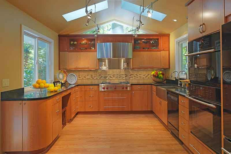 brown kitchen design