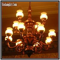 lampu gantung klasik tembaga kuningan aluminium