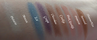 Swatches of MUA The Artiste Collection