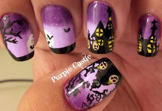 como pintar as unhas Halloween Nail Art