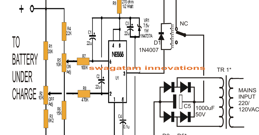 lead acid battery charger schematic  lead  get free image