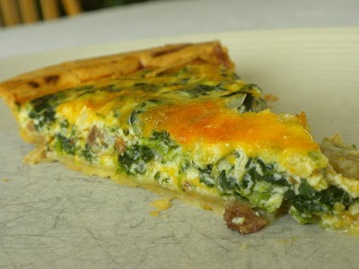Day 16 of the Bacon-atarian Challenge: Pinach and Bacon Quiche
