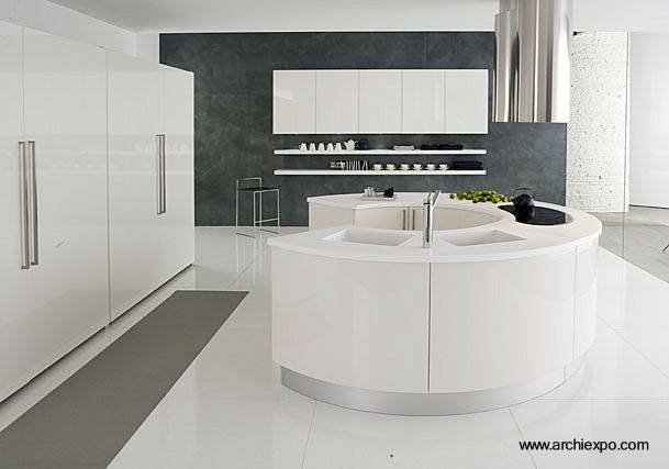 Arquitectura de casas cocina moderna de forma redonda for Cocinas integrales redondas
