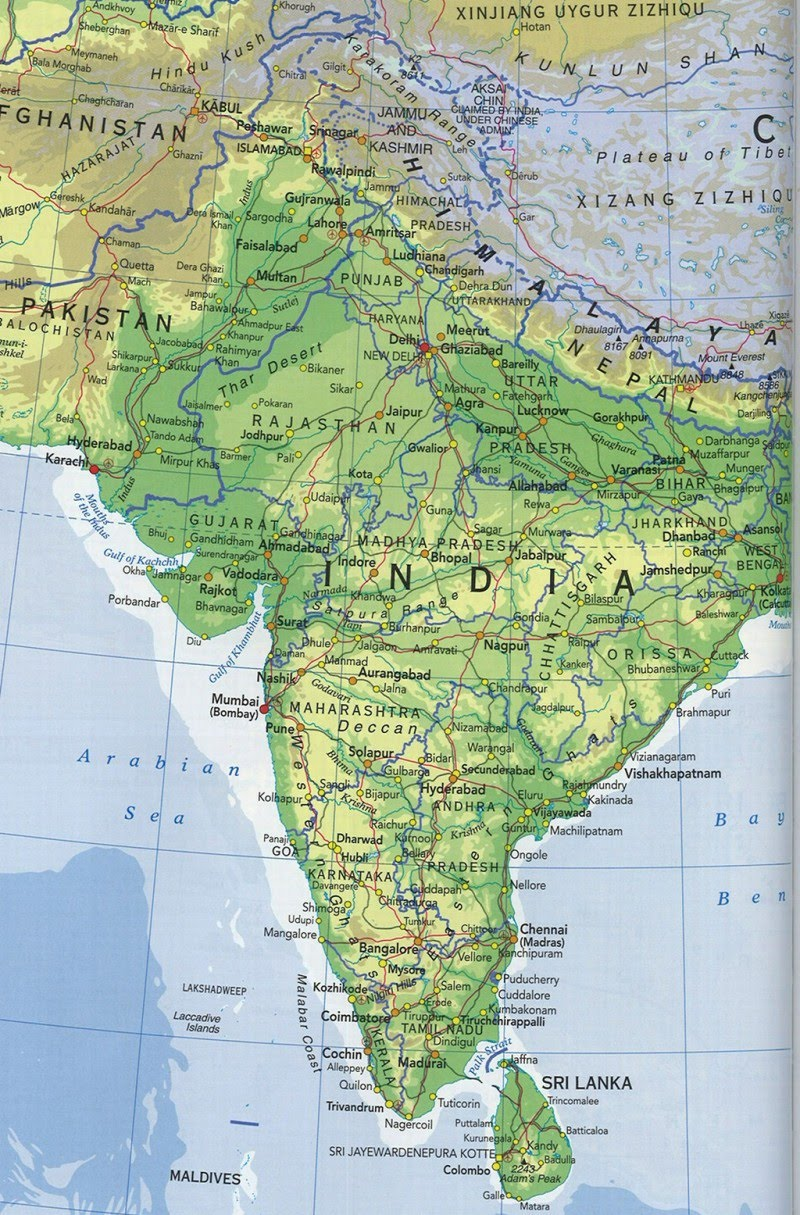 Online Maps Indian Subcontinent Map