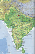 Indian Subcontinent Map. Physical map of Indian Subcontinent. indian subcontinent map
