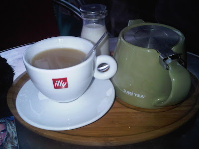 teapot and mug at a deli in Didsbury