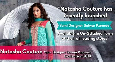Natasha Couture Yami Designer Salwar Kameez 2013