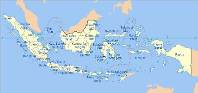 34 Propinsi di Indonesia dan Ibukotanya