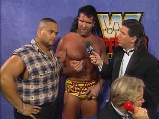 WWF / WWE - In Your House 1 - Razor Ramon introduced Savio Vega as an old friend from the Caribbean
