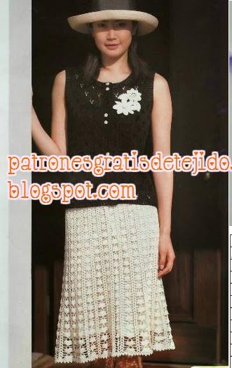 Patrones de falda delicada de dama
