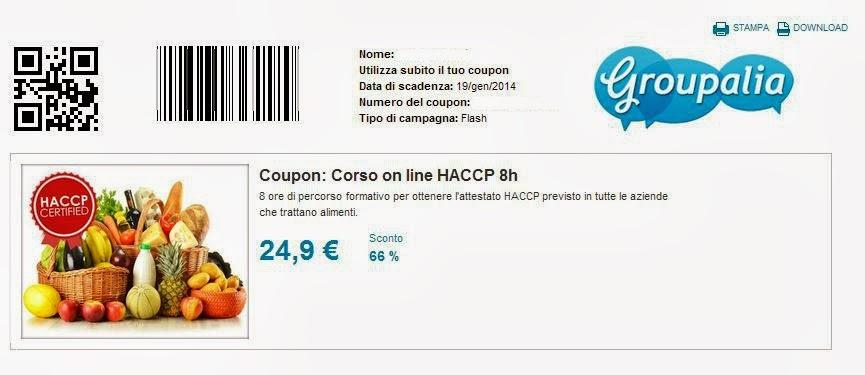 Groupalia coupon non utilizzato