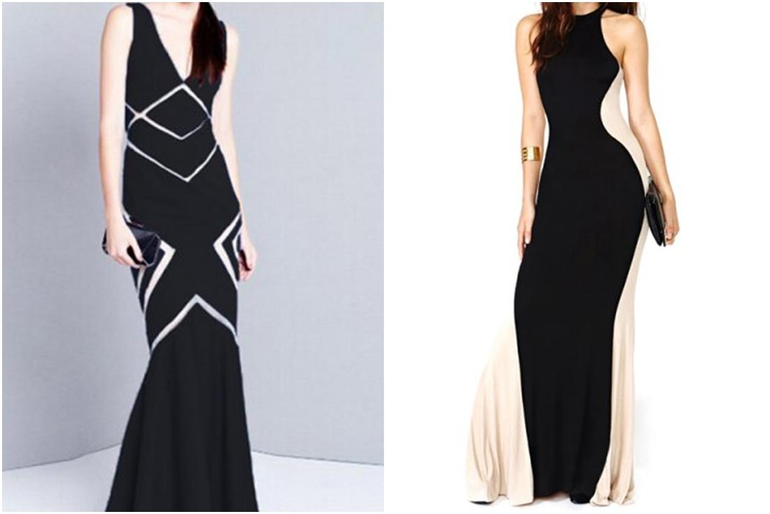 Rosegal - czarno-biała suknia