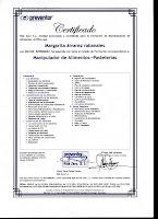 Certificado Manipulación Alimentos (especilidad pastelería)