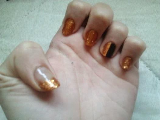 #Reto: colores y texturas; 6. Dorado con glitter.