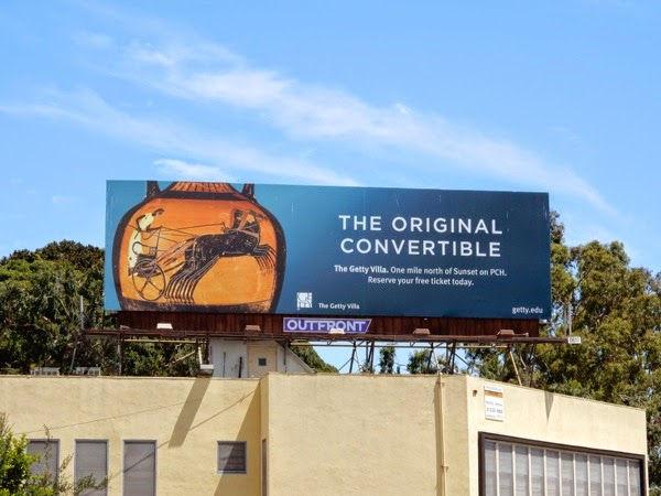 convertible Getty Villa billboard